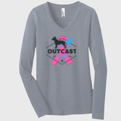 Ladies Long Sleeve Cancer Awareness
